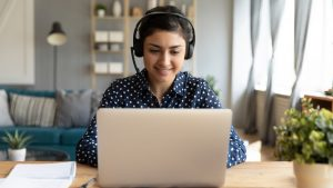 woman-using-voip-phone-to-work-from-home